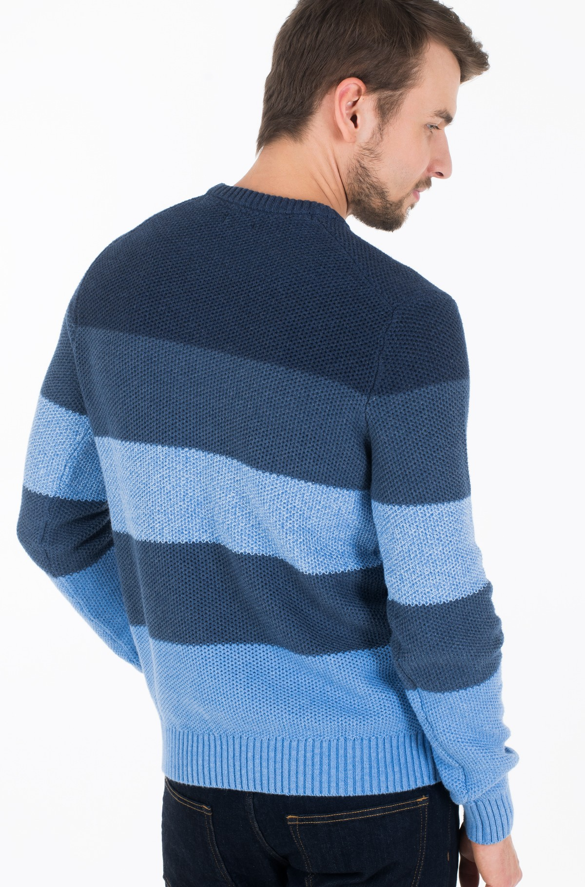 Sviiter BLOCK STRIPE CREW NECK-full-2