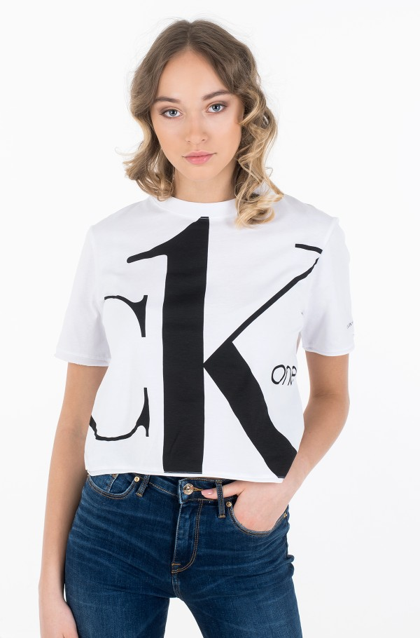 BIG LOGO MODERN STRAIGHT CROP T