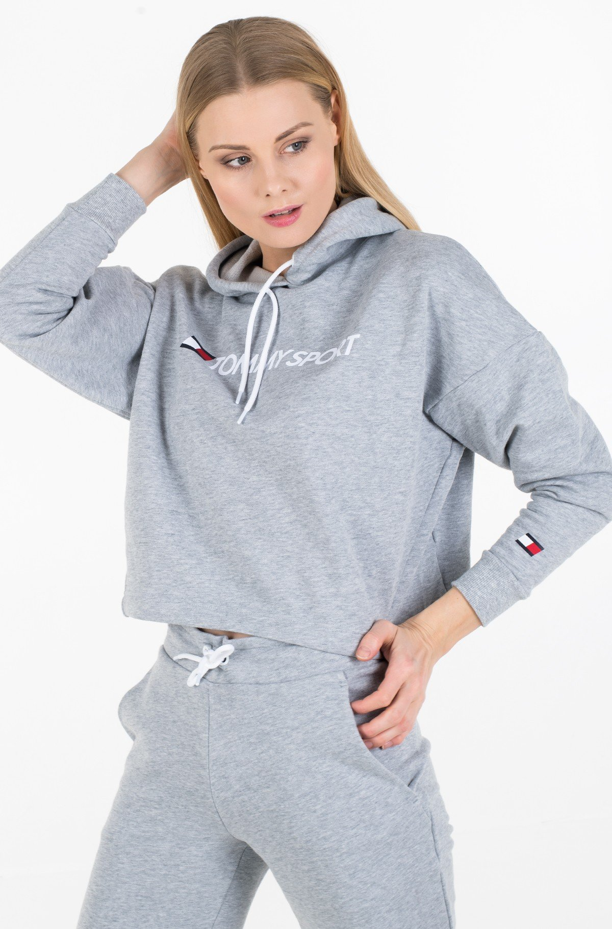 Džemperis CROPPED HOODY LOGO-full-1