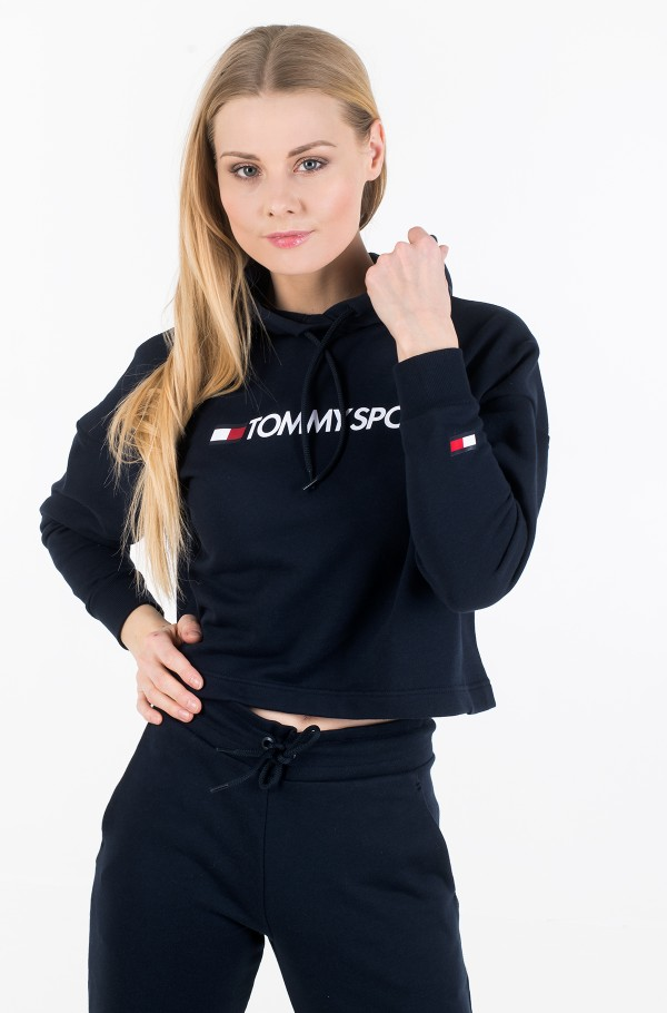 CROPPED HOODY LOGO-hover
