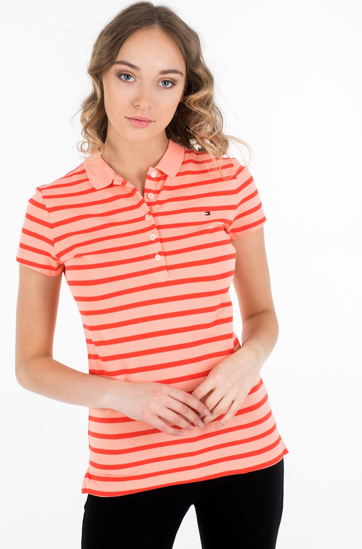 Polo SHORT SLEEVE SLIM POLO STRIPE-full-1