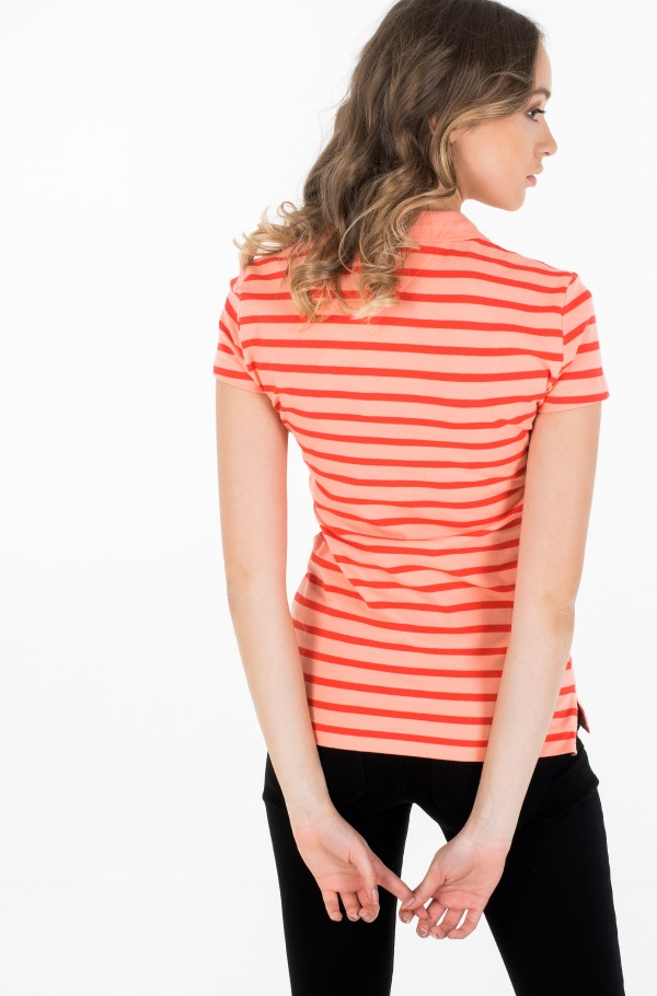 SHORT SLEEVE SLIM POLO STRIPE-hover