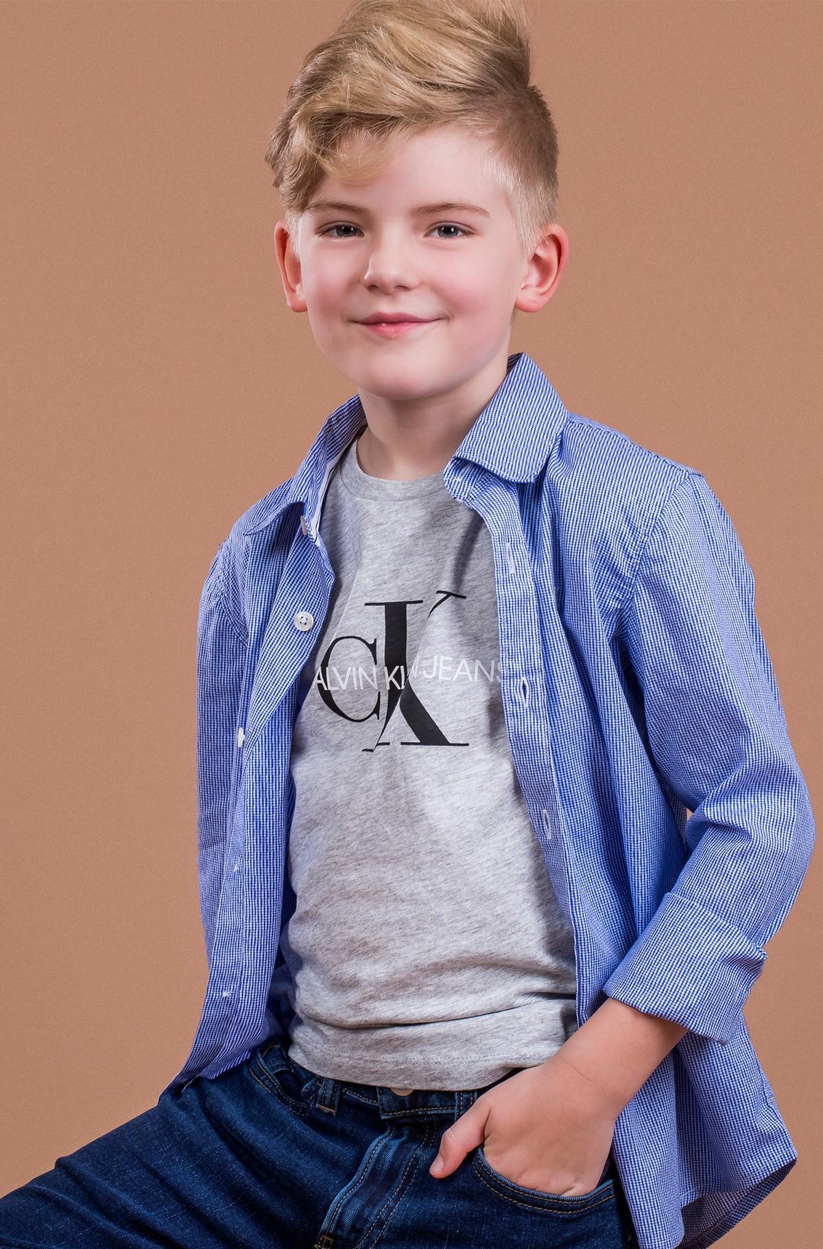 Vaikiški marškinėliai trumpomis rankovėmis MONOGRAM LOGO T-SHIRT-full-1