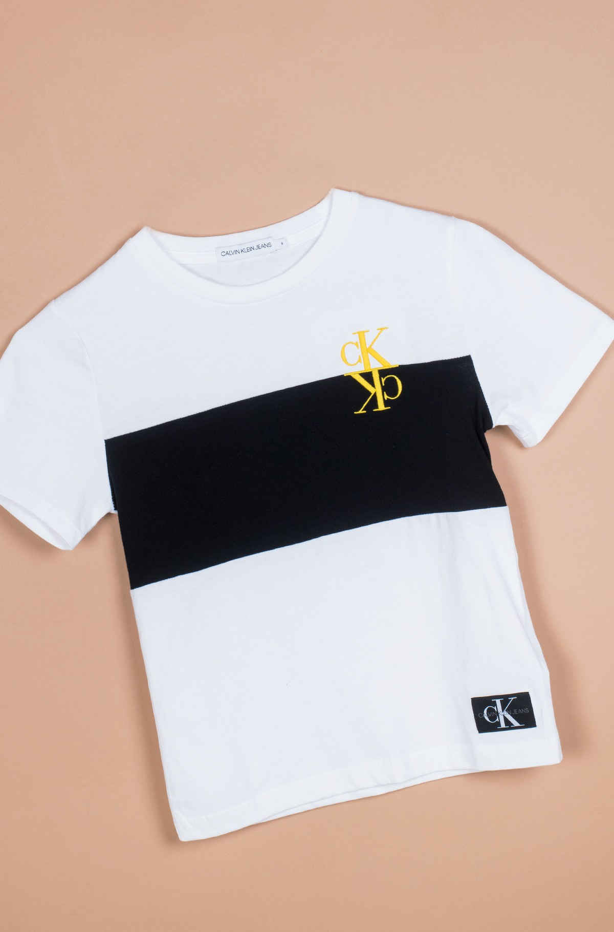 Vaikiški marškinėliai trumpomis rankovėmis COLOUR BLOCK MONOGRAM SS T-SHIRT-full-1