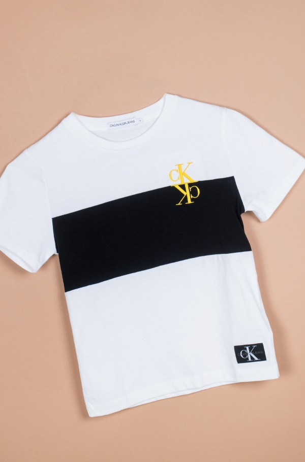 COLOUR BLOCK MONOGRAM SS T-SHIRT