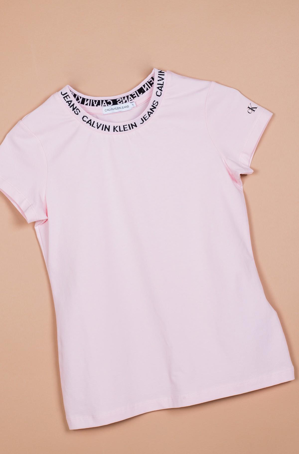 Vaikiški marškinėliai trumpomis rankovėmis LOGO INTARSIA SS T-SHIRT-full-1