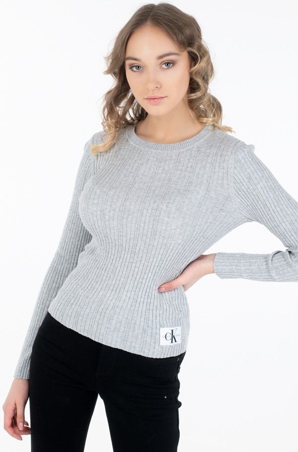POINTELLE RIB SWEATER