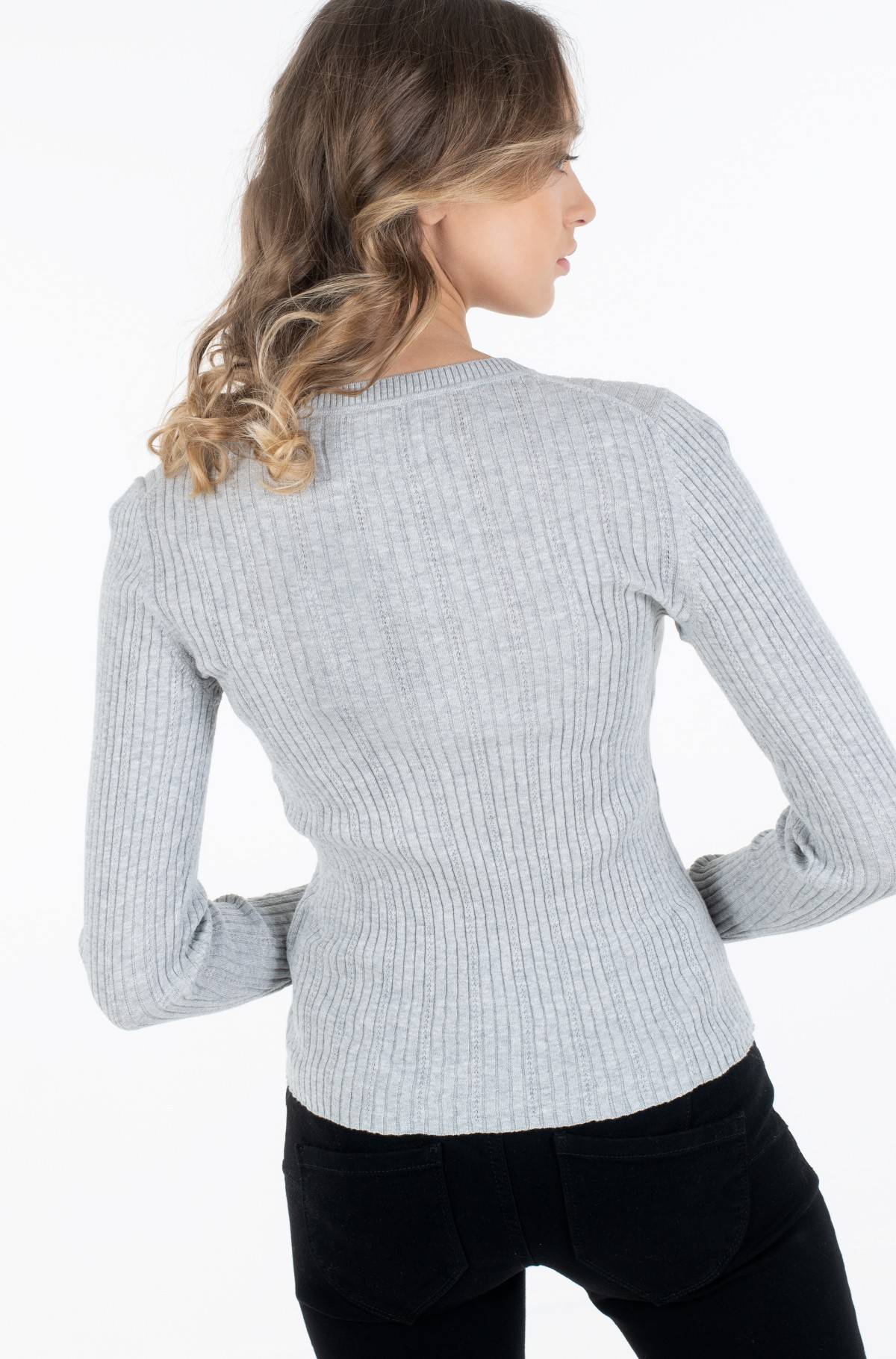 Sviiter POINTELLE RIB SWEATER-full-2