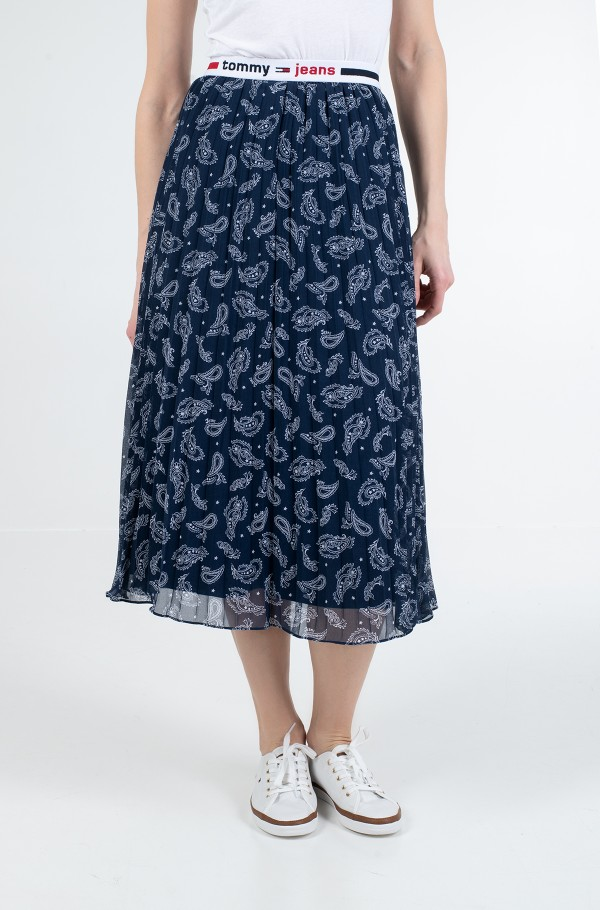 TJW PLEATED MIDI SKIRT