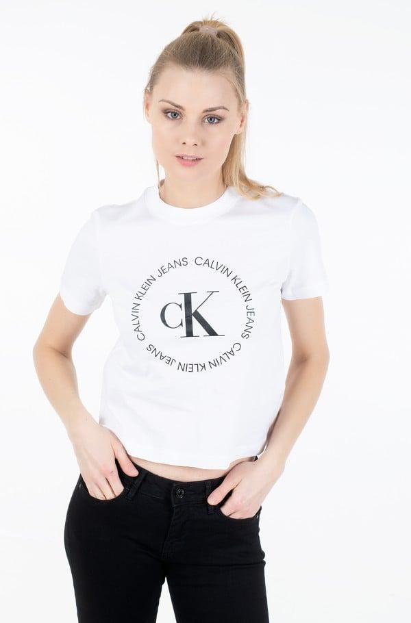 CK ROUND LOGO STRAIGHT TEE