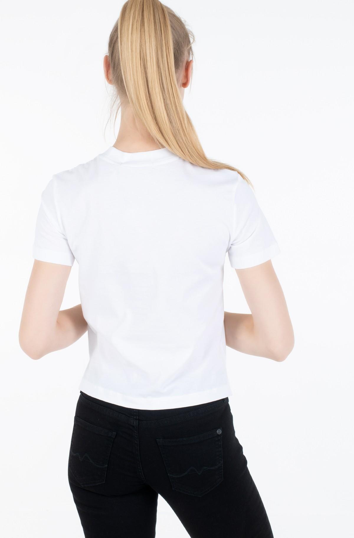 Marškinėliai CK ROUND LOGO STRAIGHT TEE-full-2