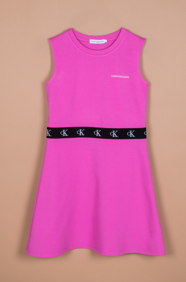 MONOGRAM PUNTO SKATER DRESS-hover