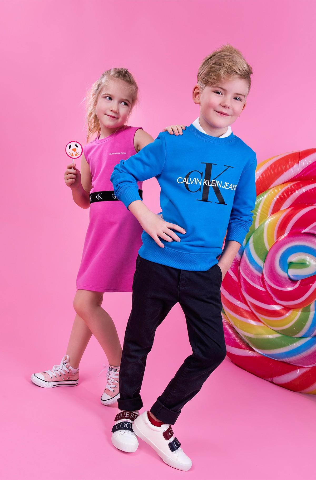 Laste kleit MONOGRAM PUNTO SKATER DRESS-full-3