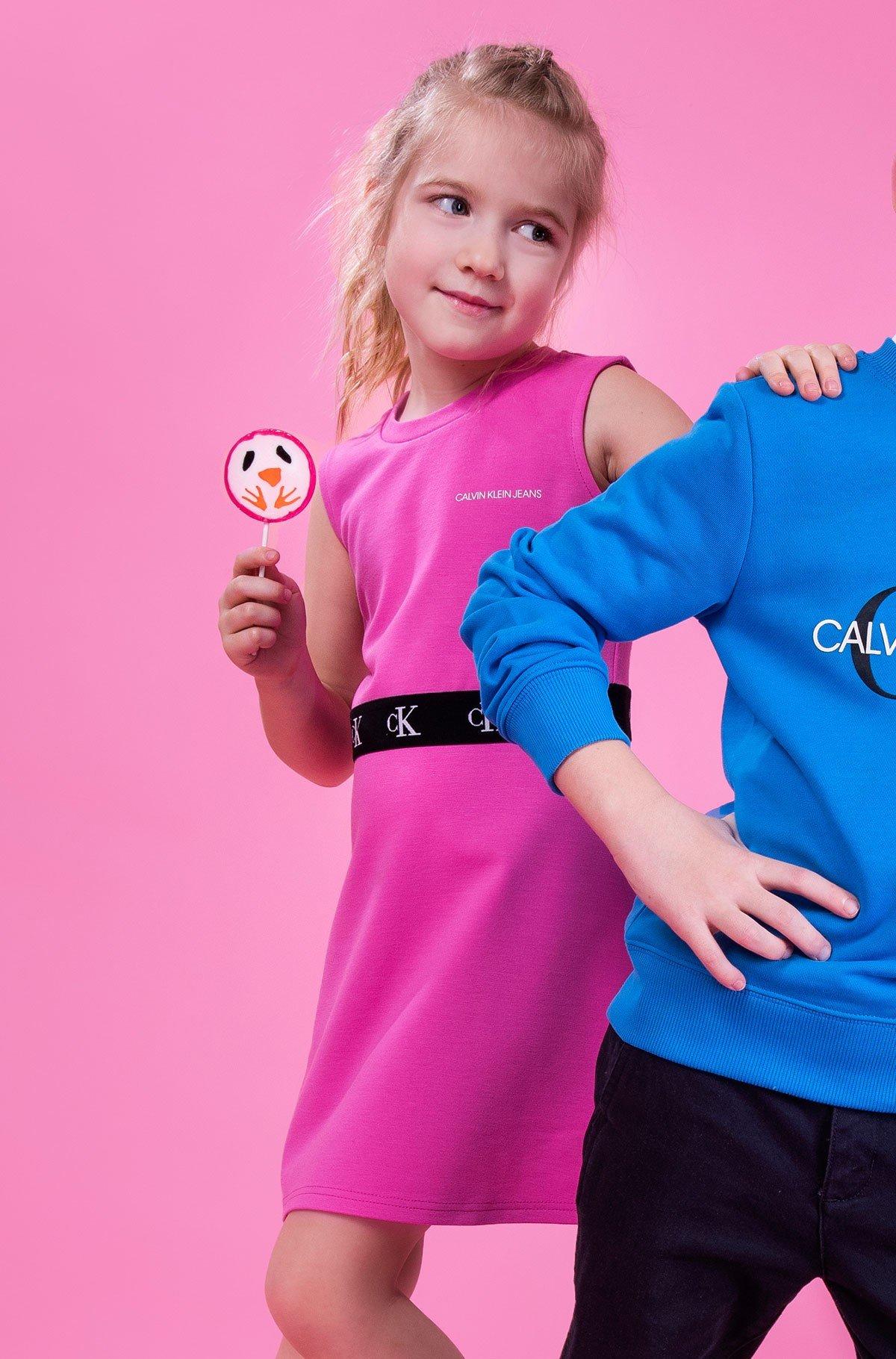 Laste kleit MONOGRAM PUNTO SKATER DRESS-full-1