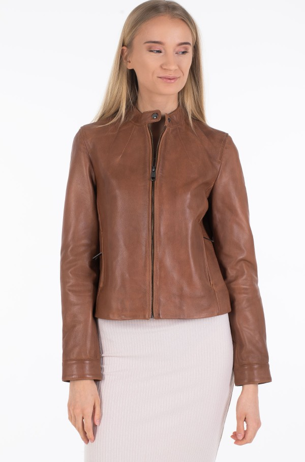 DAISY LEATHER JACKET-hover