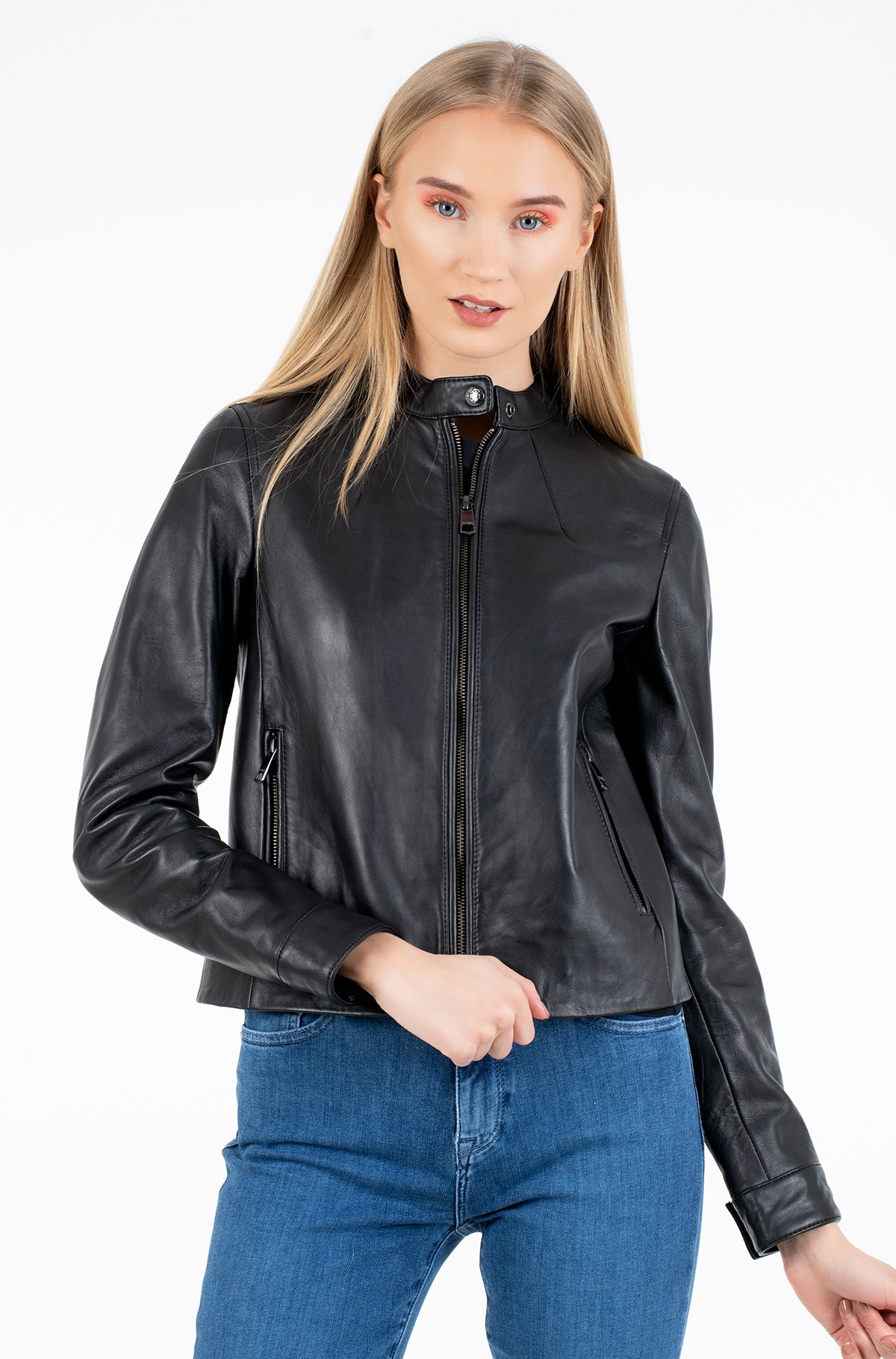 Odinė striukė DAISY LEATHER JACKET-full-2