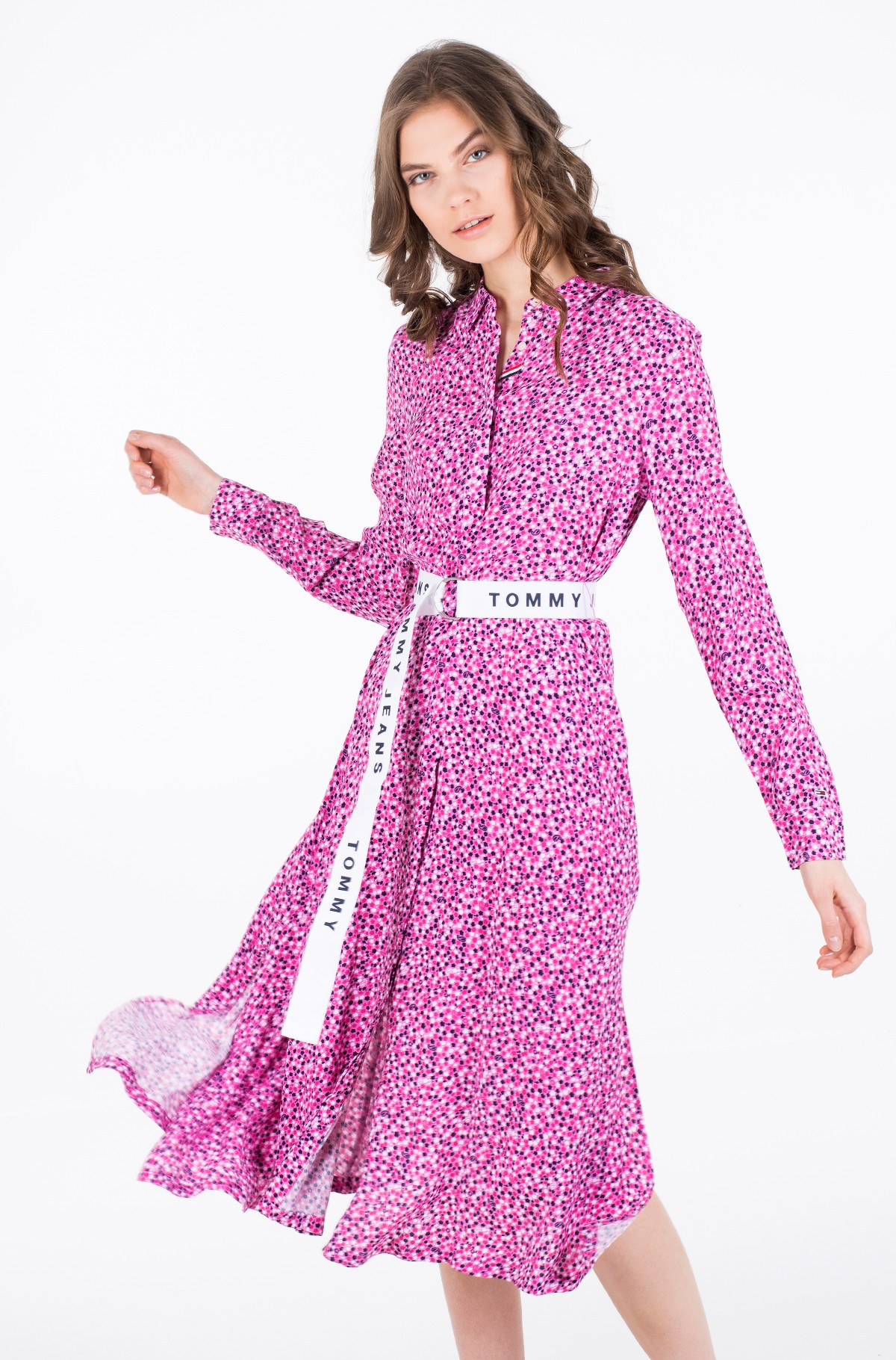 Midikleit TJW PRINTED SHIRT DRESS-full-2