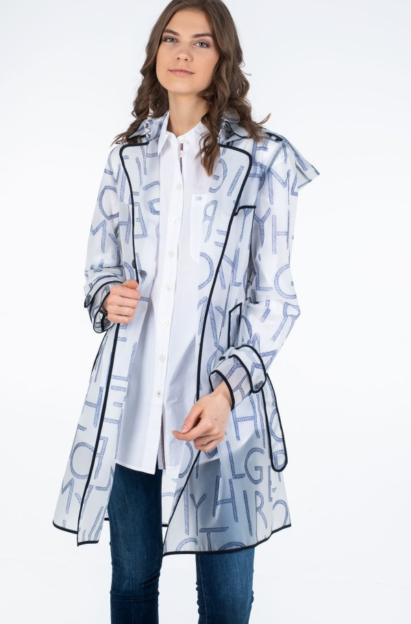 FELICIA DB HOODED RAIN TRENCH