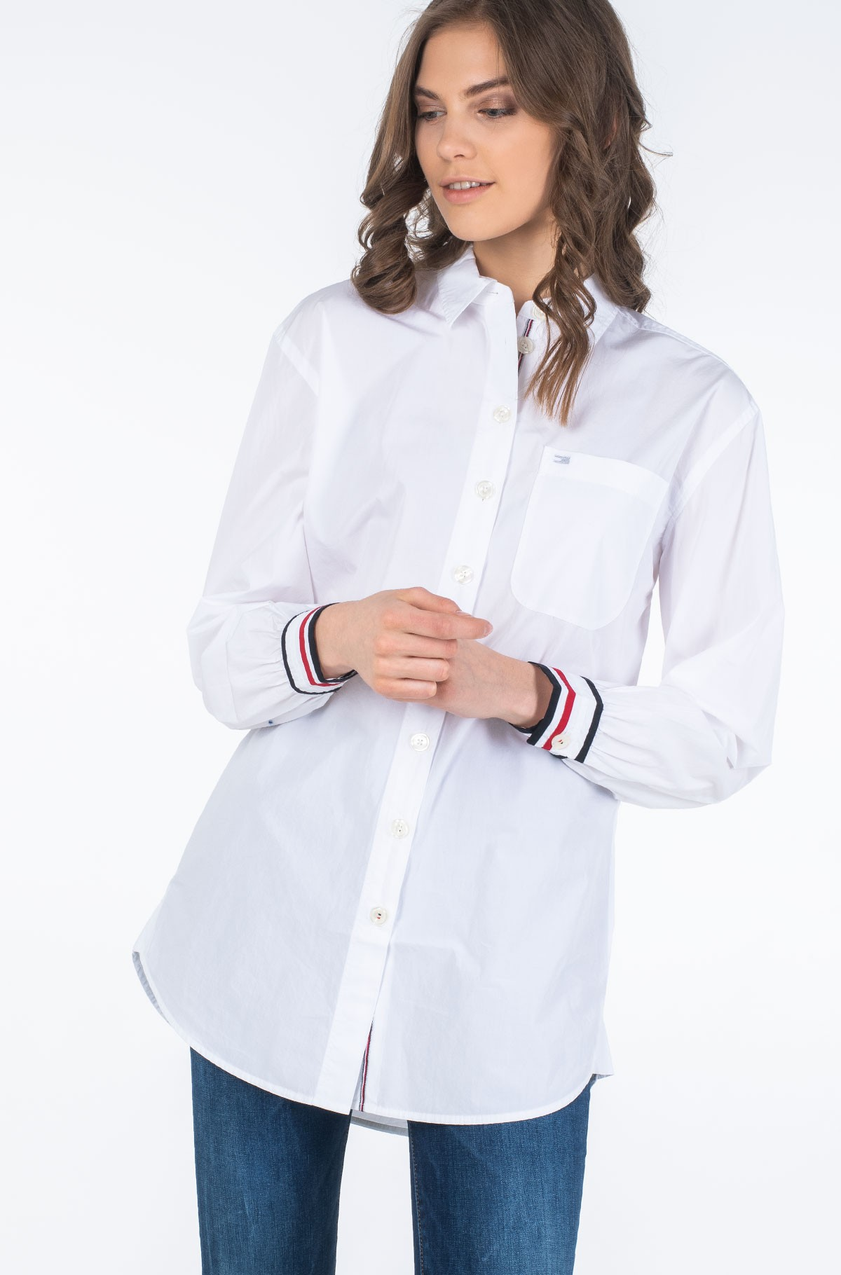 Marškiniai ICON BOYFRIEND SHIRT LS-full-1