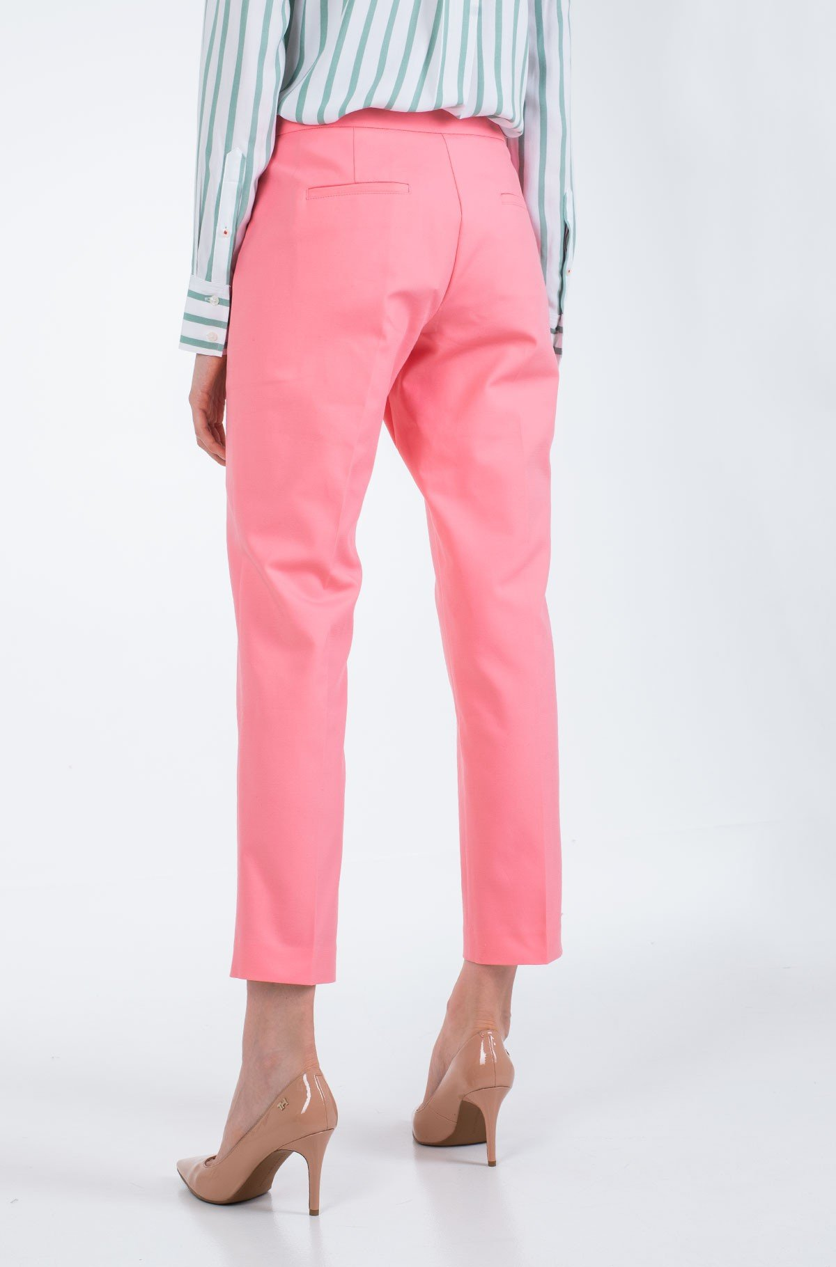 Kelnės SLUB COTTON SLIM PANT-full-2