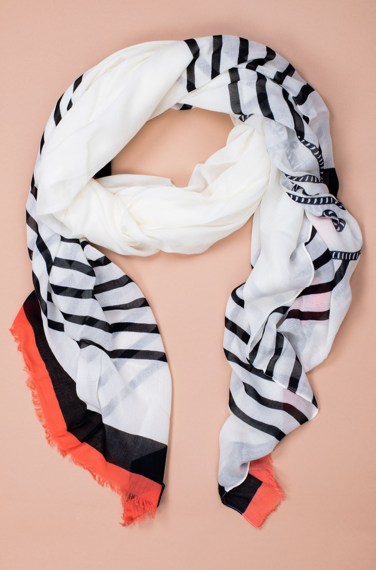 Sall POPPY BRETON STRIPES SCARF-full-1