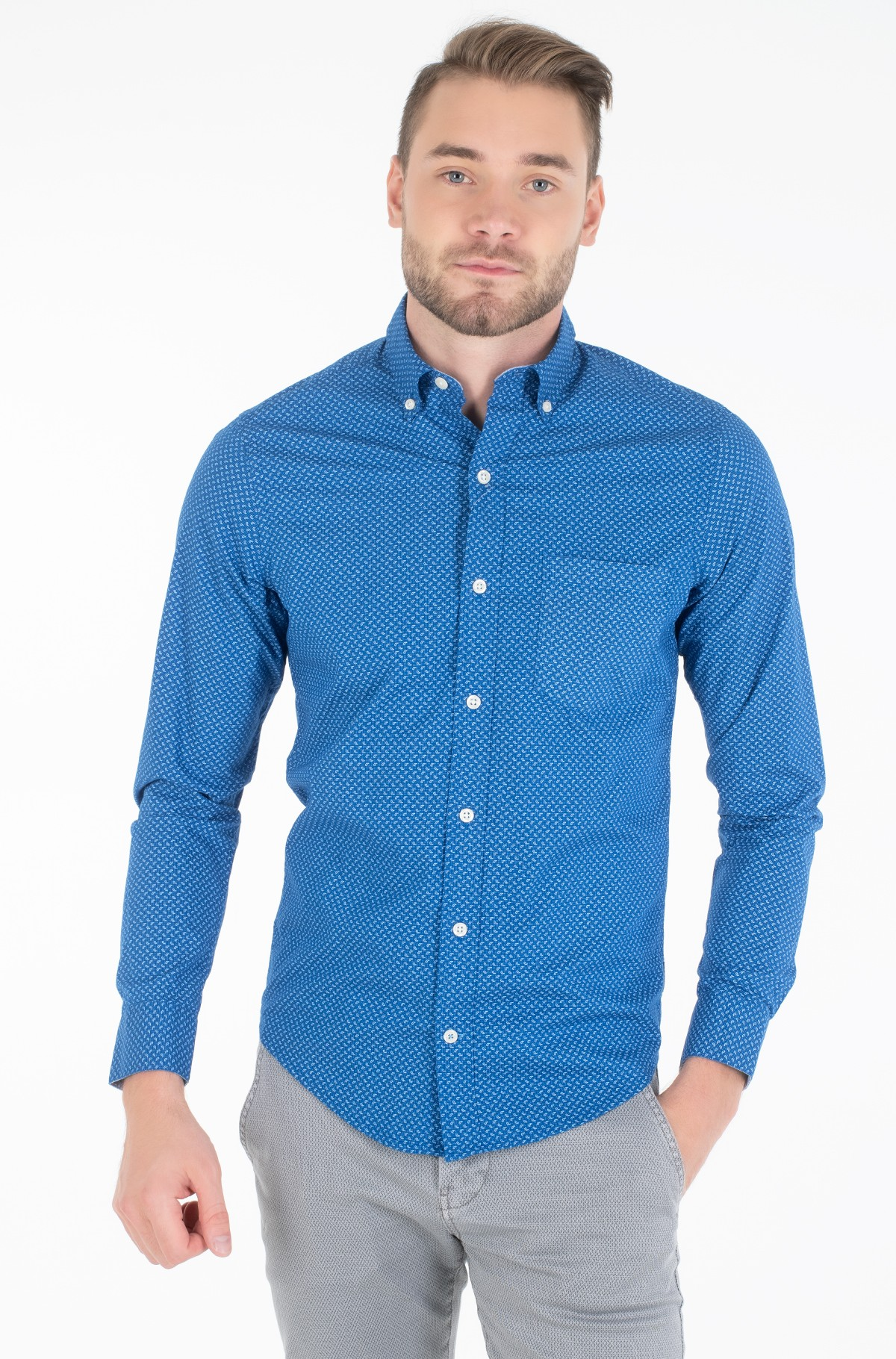 Marškiniai POPLIN PAISLEY PRINT BD SHIRT-full-1