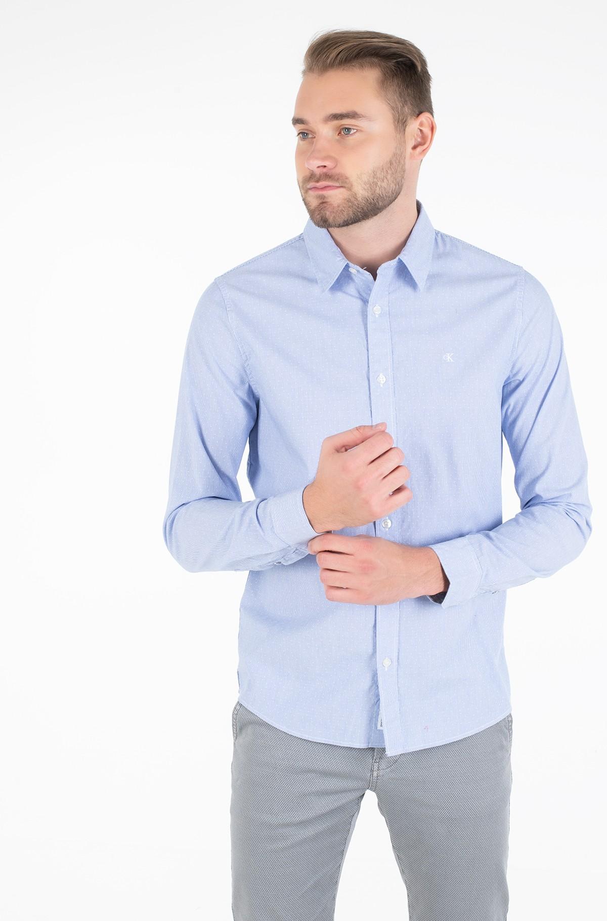 Marškiniai DOBBY SLIM STRETCH-full-1