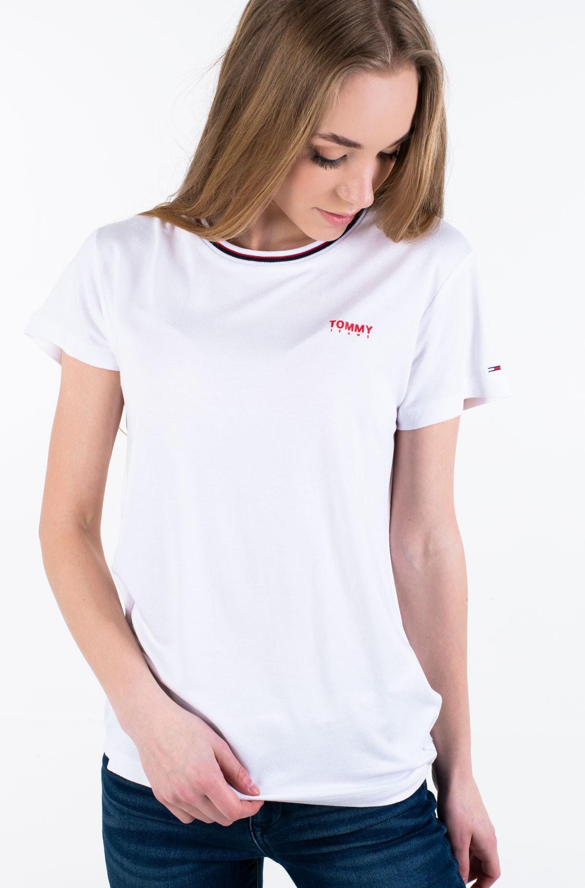 Marškinėliai TJW RIB NECK TEE-full-1