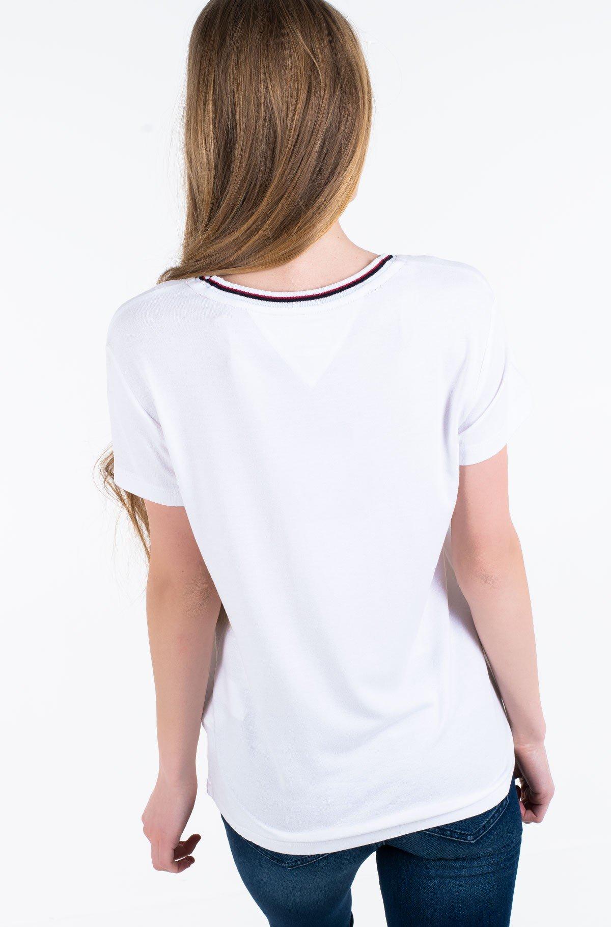 Marškinėliai TJW RIB NECK TEE-full-2