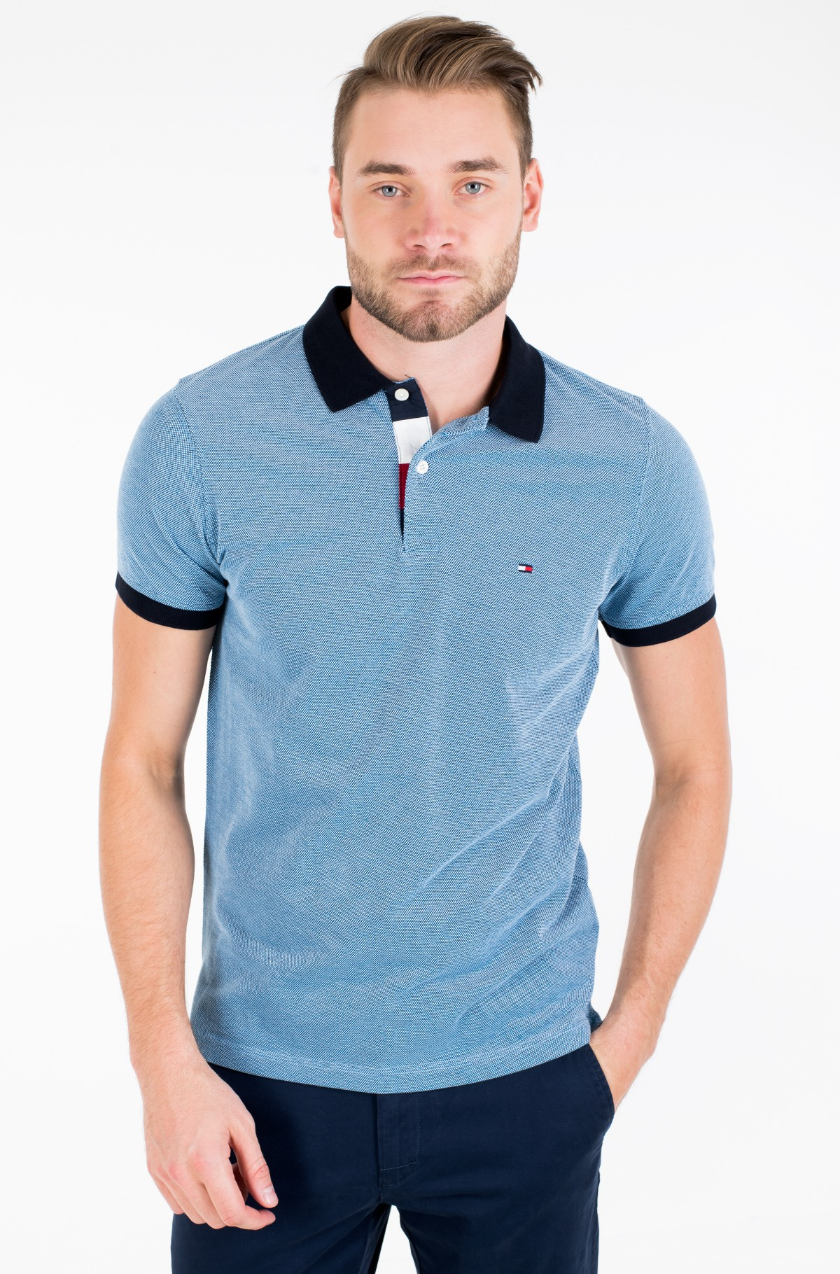 Polo STRUCTURED SLIM POLO-full-1