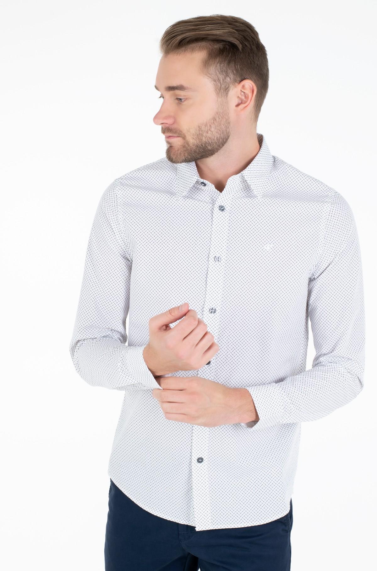 Marškiniai GEO MICRO PATTERN SHIRT-full-1