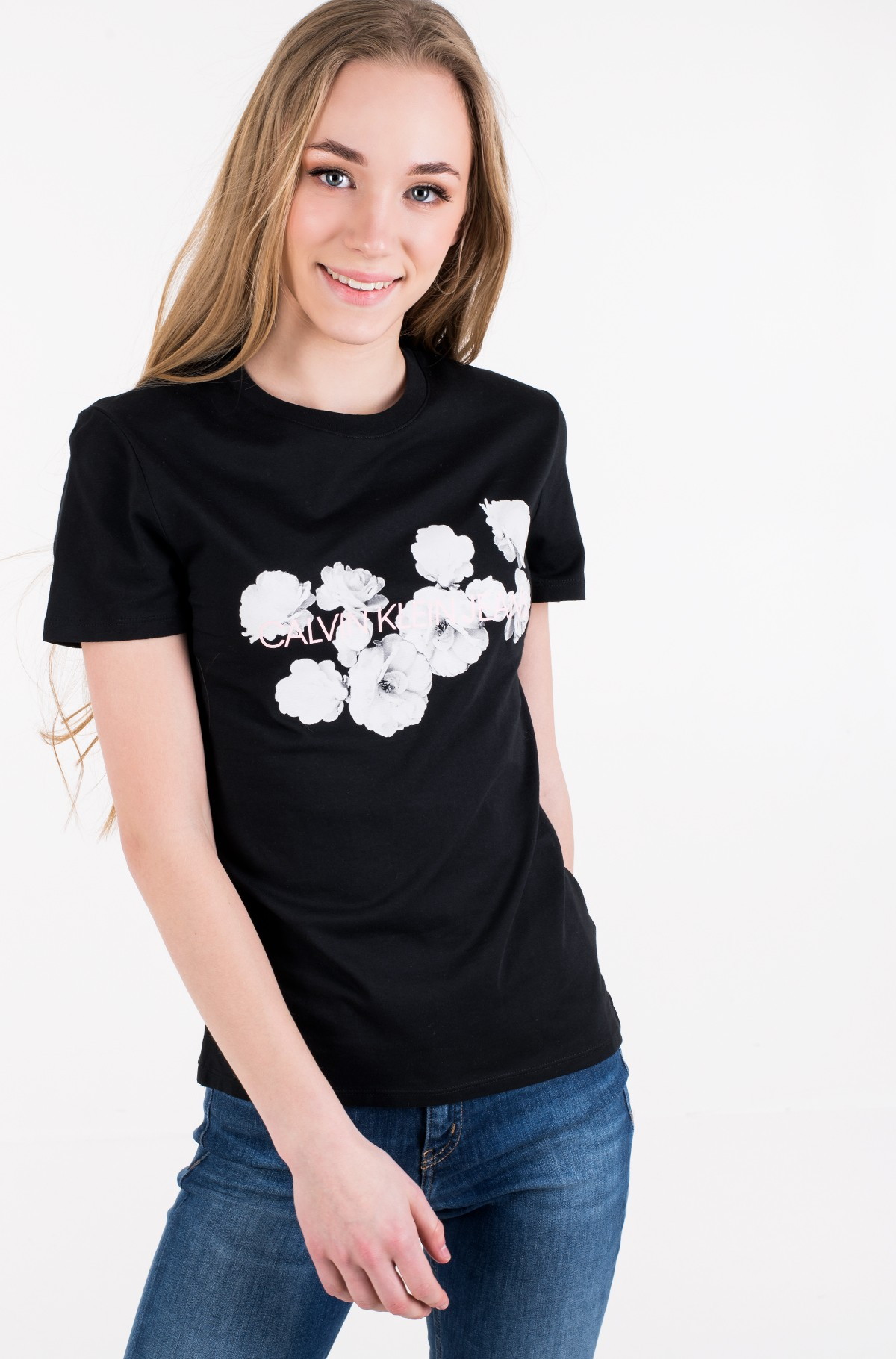 T-särk FLORAL PLACEMENT SLIM TEE-full-1