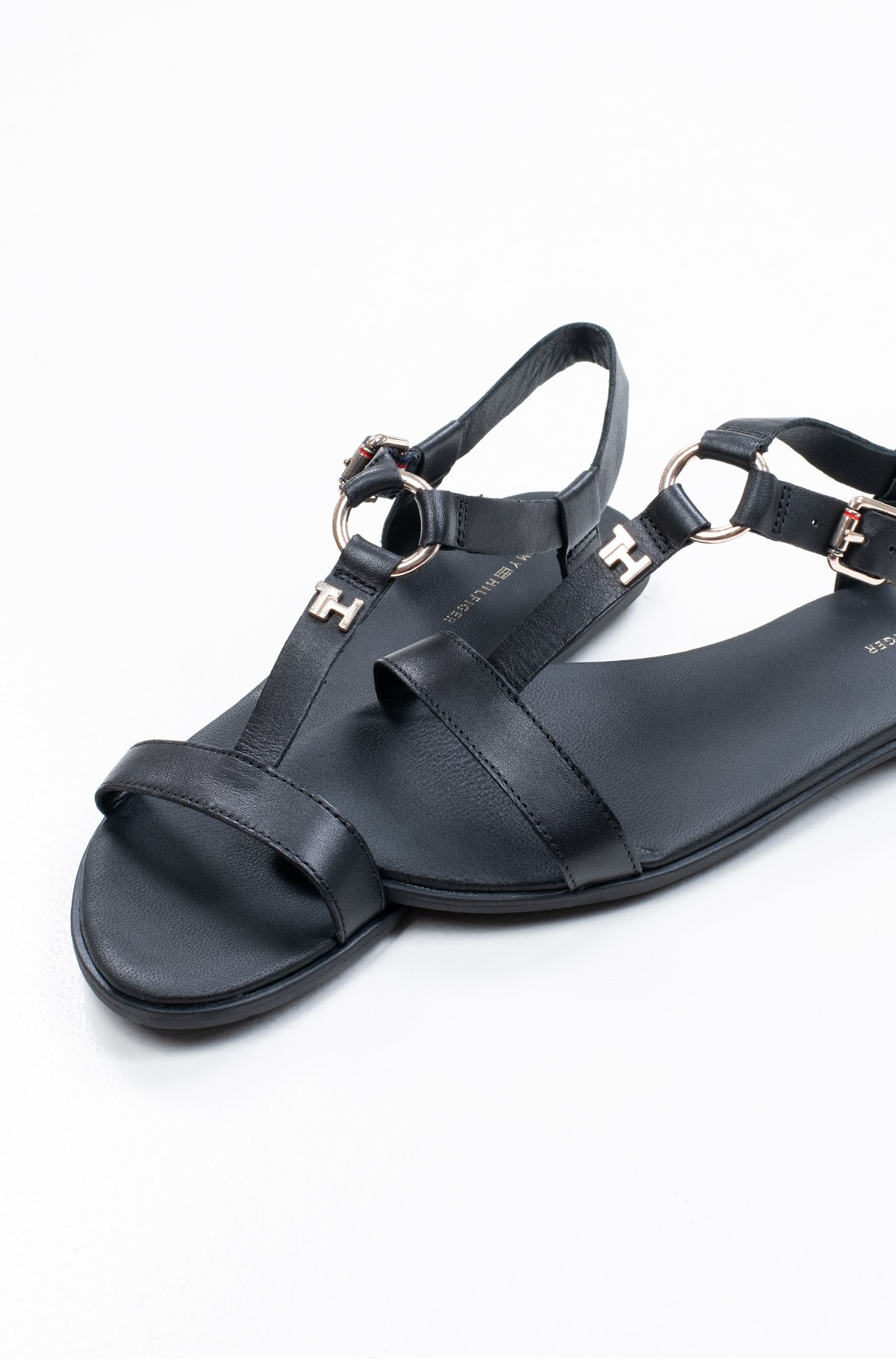 Basutės FEMININE LEATHER FLAT SANDAL-full-1
