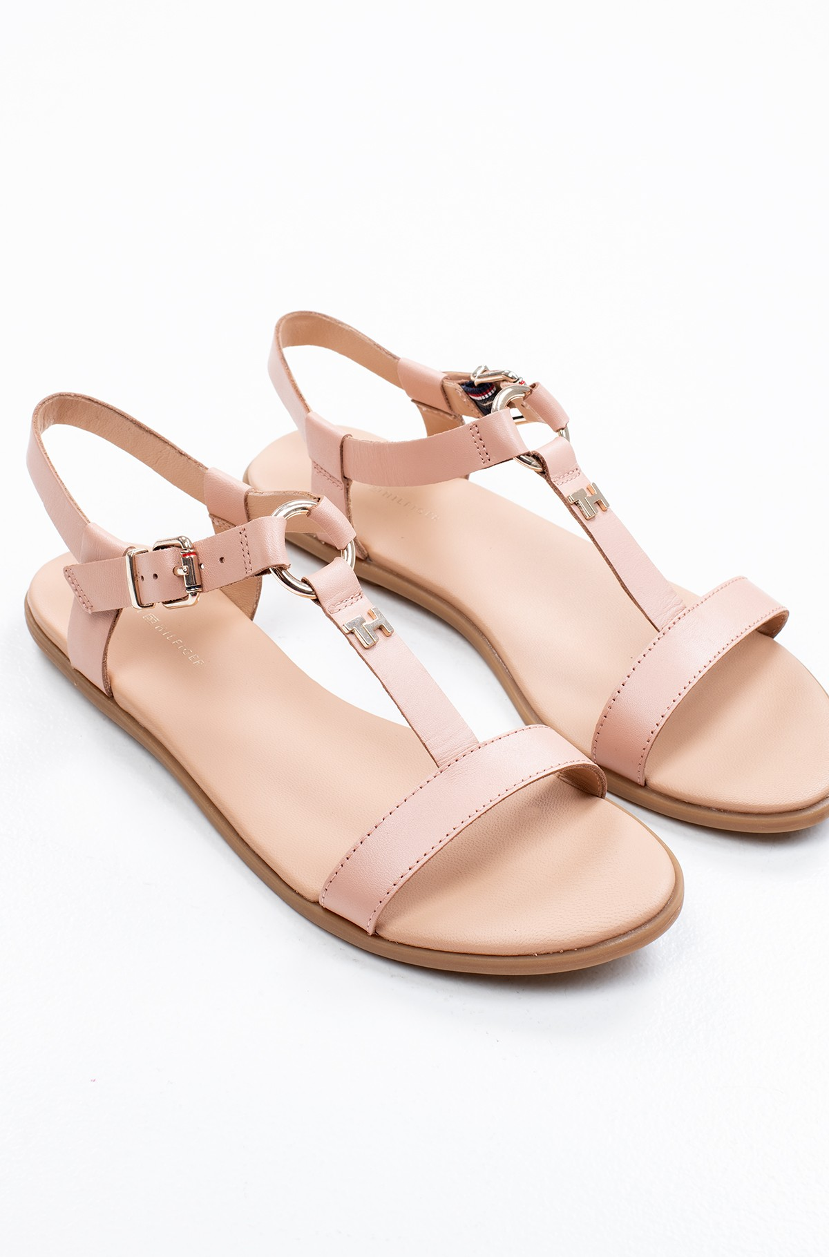 Basutės FEMININE LEATHER FLAT SANDAL-full-3