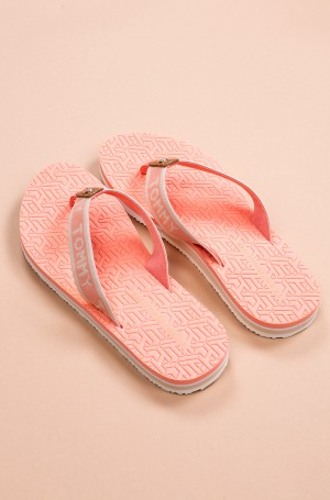 Plätud TH EMBOSSED FLAT BEACH SANDAL-3