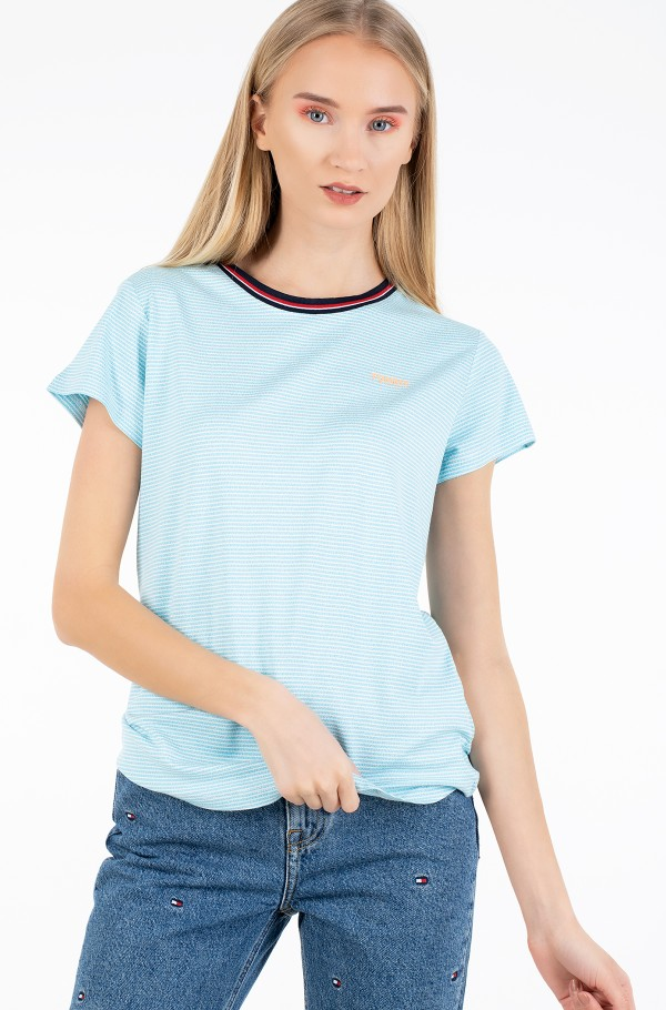 TJW RIB NECK STRIPE TEE