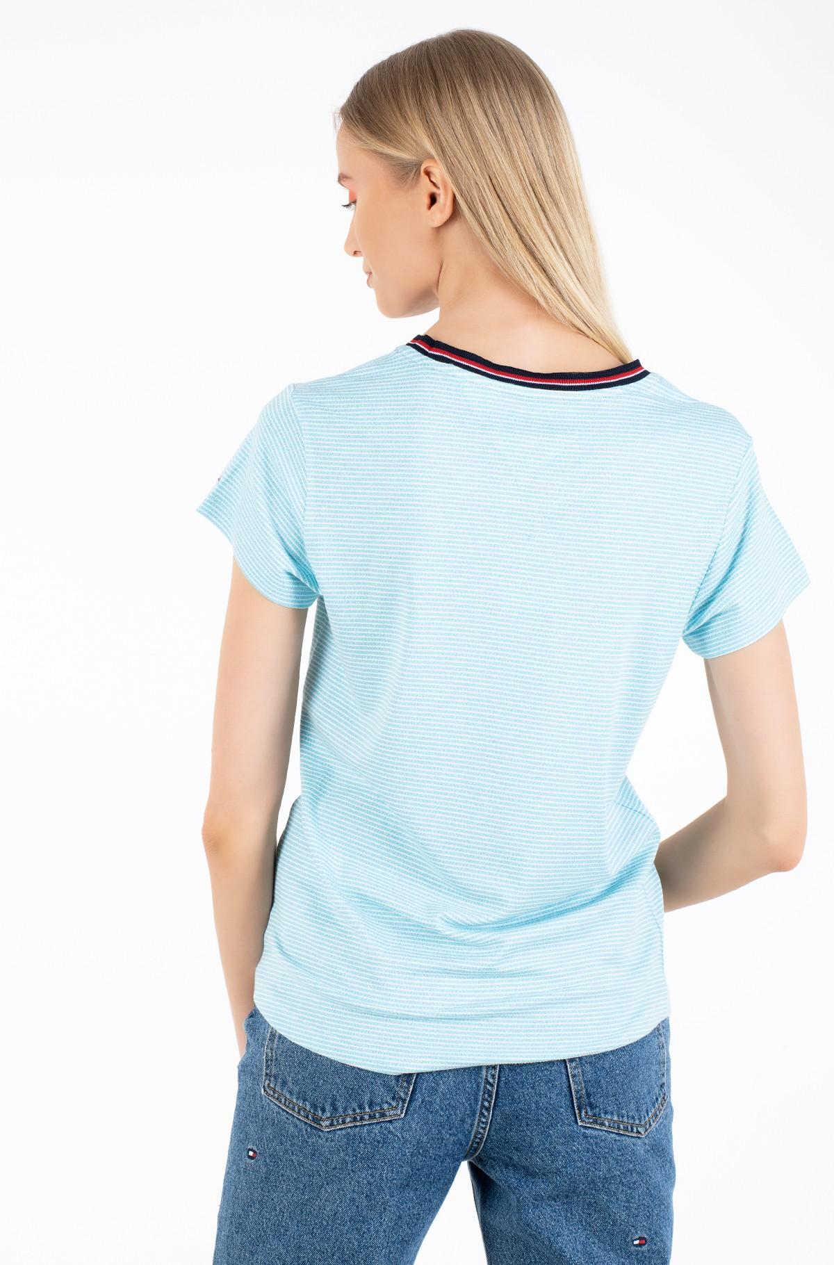 Marškinėliai TJW RIB NECK STRIPE TEE-full-2