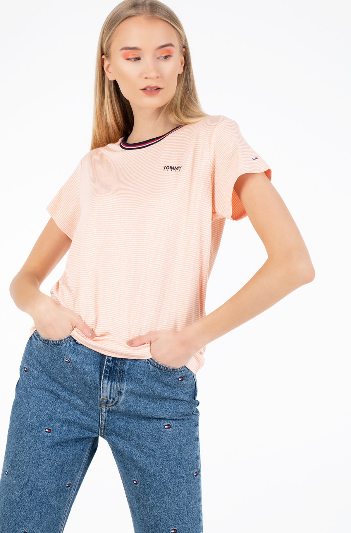 T-särk TJW RIB NECK STRIPE TEE-full-1
