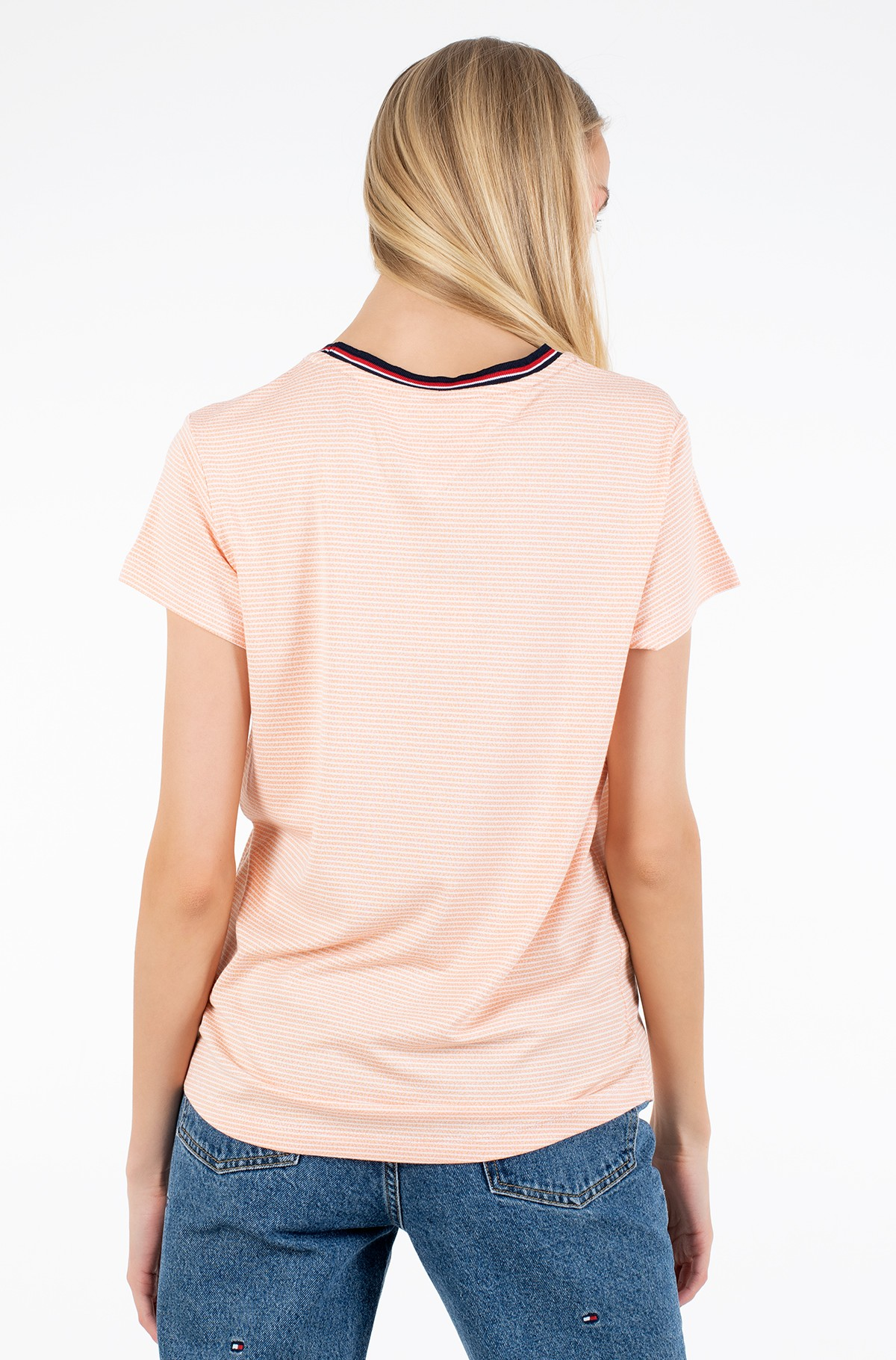 T-särk TJW RIB NECK STRIPE TEE-full-2