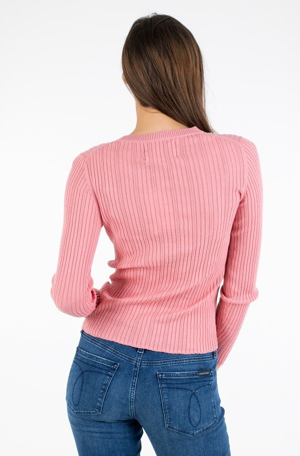 POINTELLE RIB SWEATER-hover