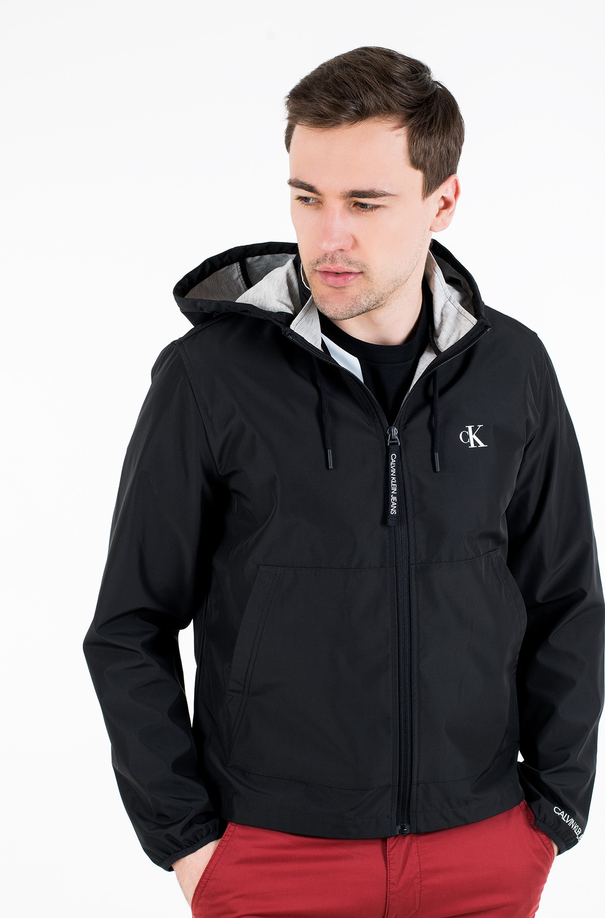 Striukė JERSEY LINED HOODED JACKET-full-1