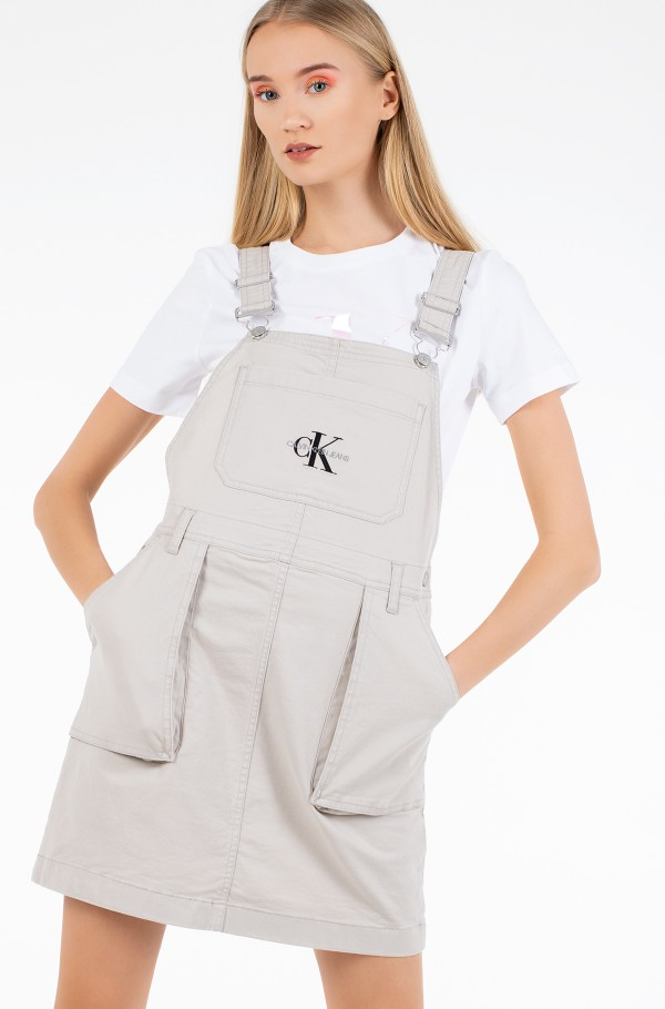 UTILITY DUNGAREE DRESS-hover