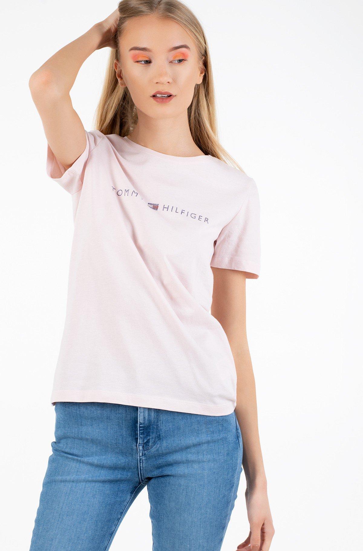 Marškinėliai TIARA REGULAR ROUND-NK TEE SS-full-1