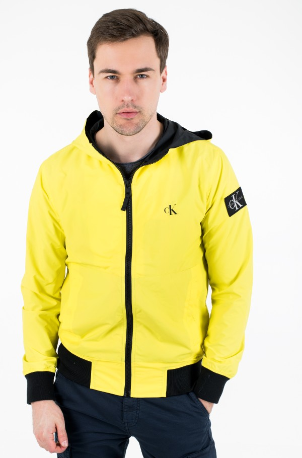 HOODED BLOCKING NYLON JACKET-hover