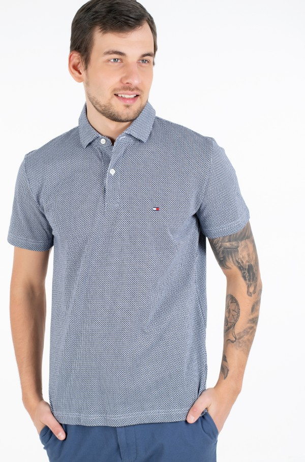 ALL OVER MINI PRINT REGULAR POLO