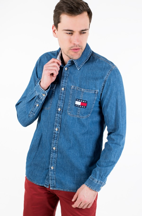 TJM DENIM BADGE SHIRT