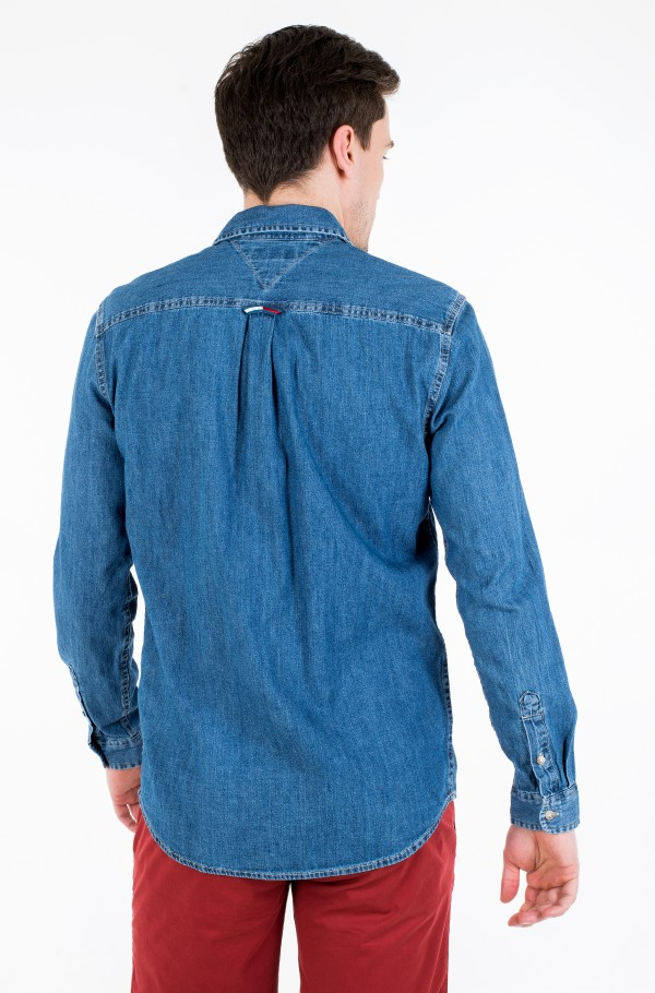TJM DENIM BADGE SHIRT-hover