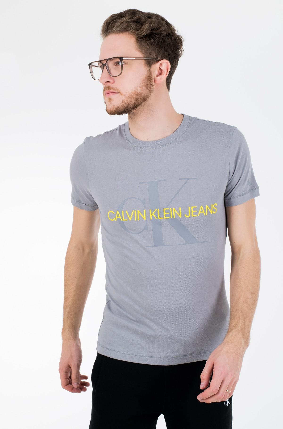 Marškinėliai VEGETABLE DYE MONOGRAM SLIM TEE-full-1