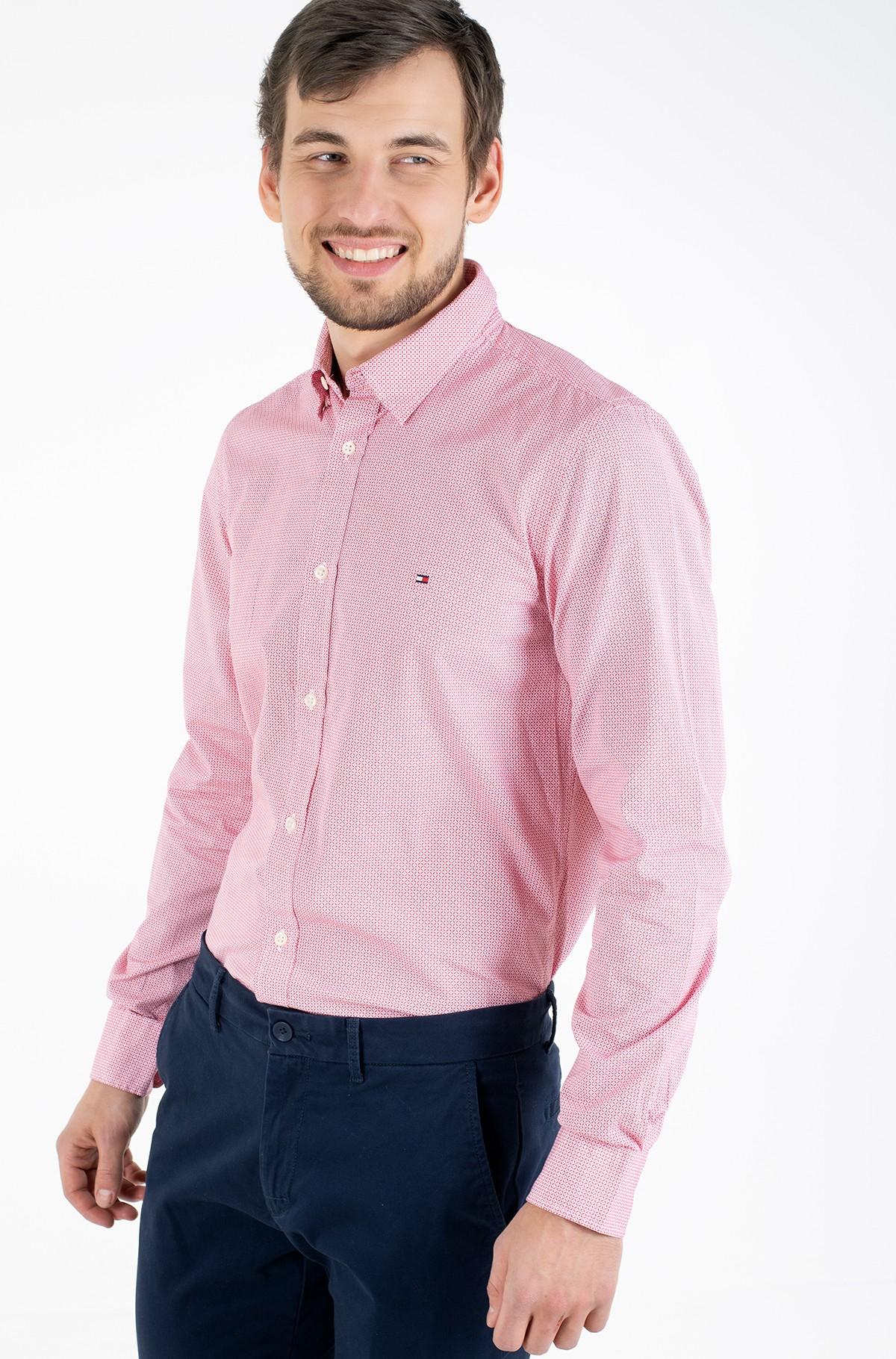 Marškiniai SLIM SOFT GEO PRINT SHIRT-full-1