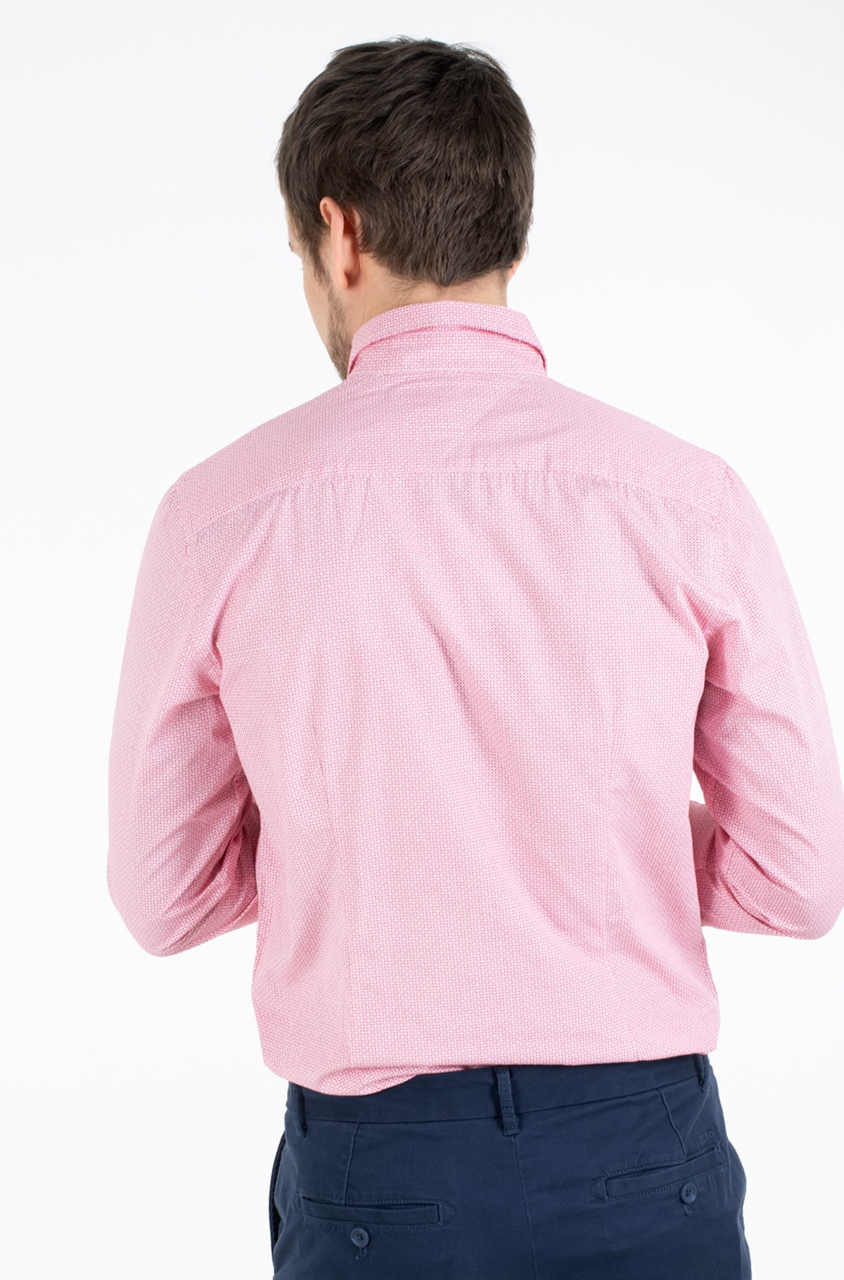 Marškiniai SLIM SOFT GEO PRINT SHIRT-full-2